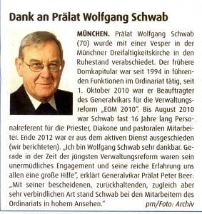 Dr. Schwab in Ruhestand verabschiedet