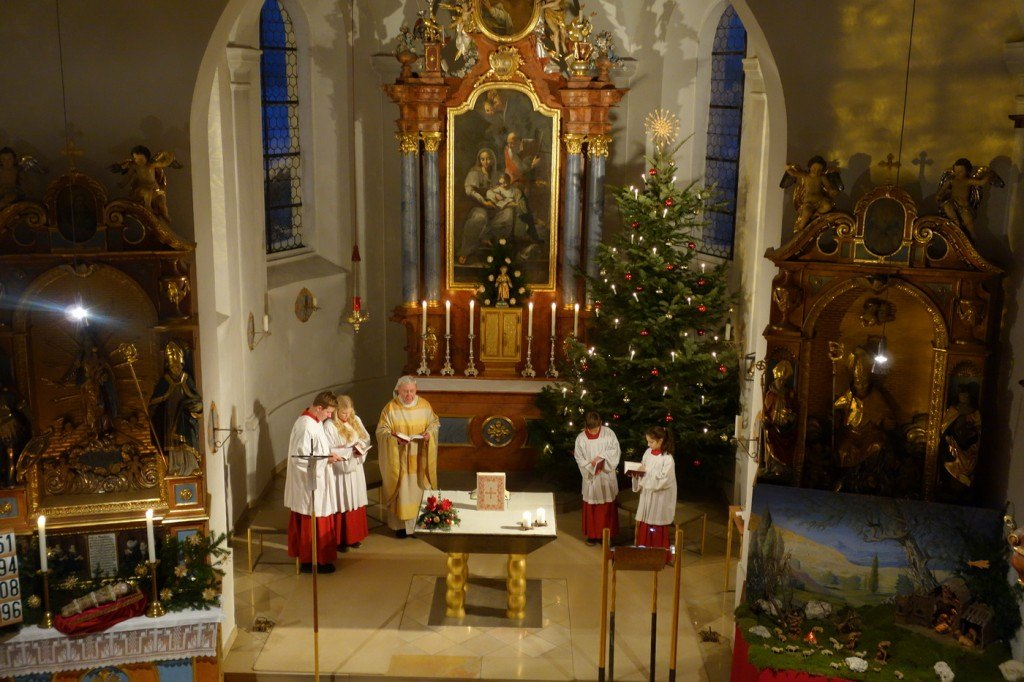 Abendlicher Silvestergottesdienst in Wangen