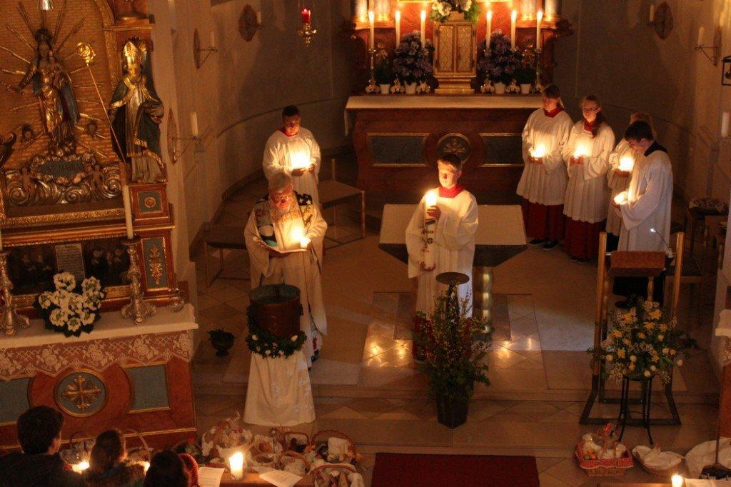 Feierliche Osternacht in St. Ulrich in Wangen