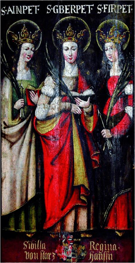 St. Ainpet, Gerpet und Firpet, die heiligen Leutstettenerinnen