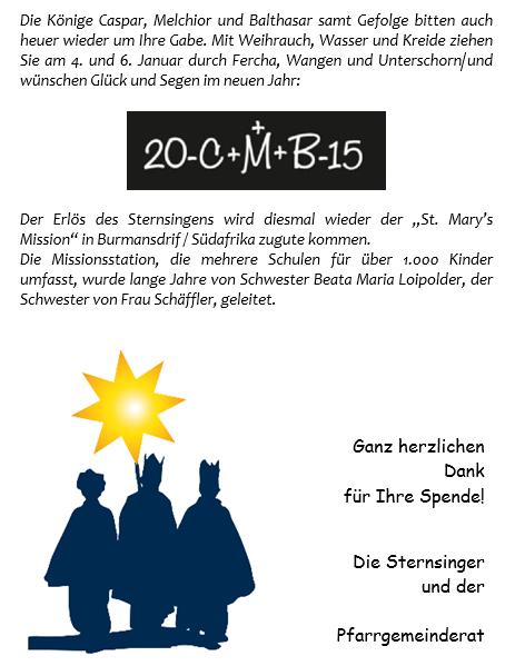Sternsingen 2015